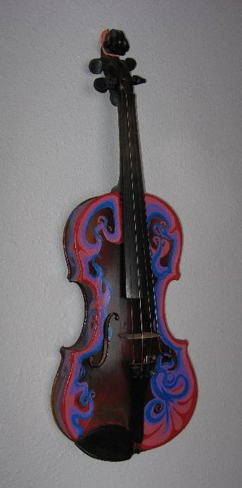 decorated violin