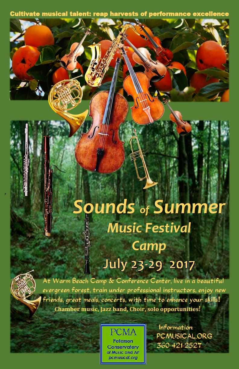 Sounds of Summer Music, July 23-29, 2017, at Warm Beach Camp