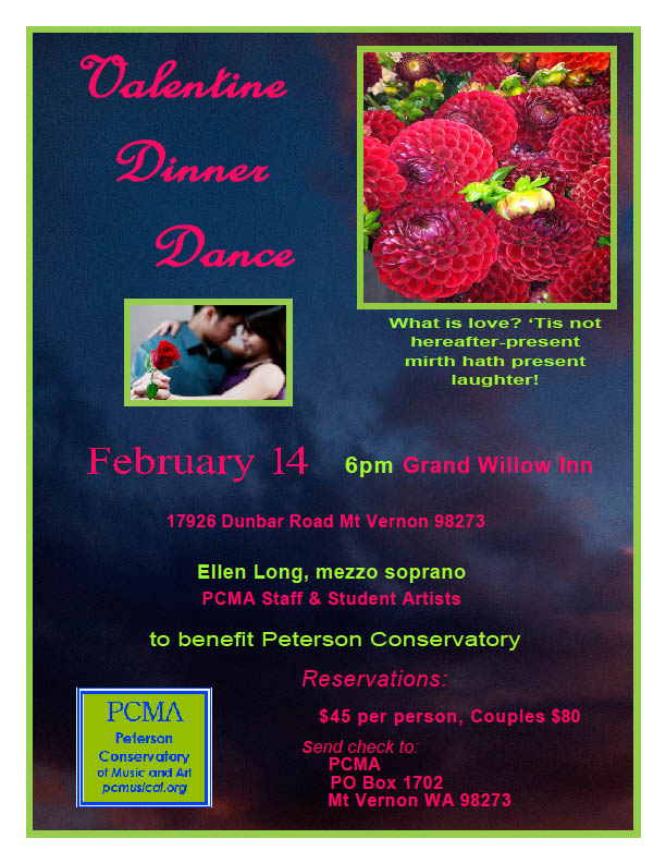 Valentine's Day Dinner-Dance to benefit the Peterson Conservatory